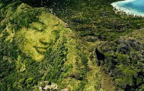 face hidden faces optical mountains illusions illusion