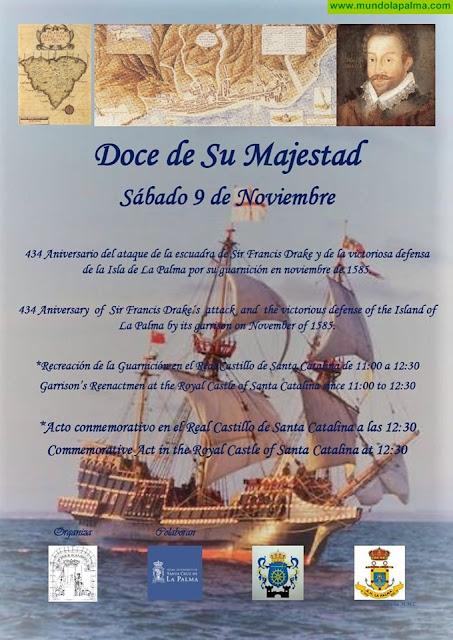 434 Aniversario del ataque de la escuadra de Sr. Francis Drake y de la victorios defensa de la Isla de La Palma