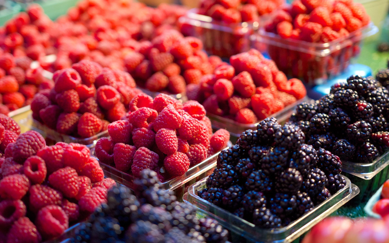 Blackberry fruit wallpaper - 4k Hd Wallpaper Fresh Fruits At The Market