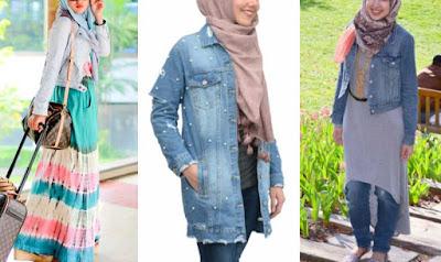 Pakai Jaket Denim Untuk Hijaber Cantik dan Keren