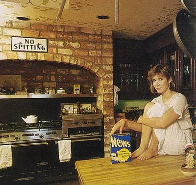 carrie fisher in the kitchen