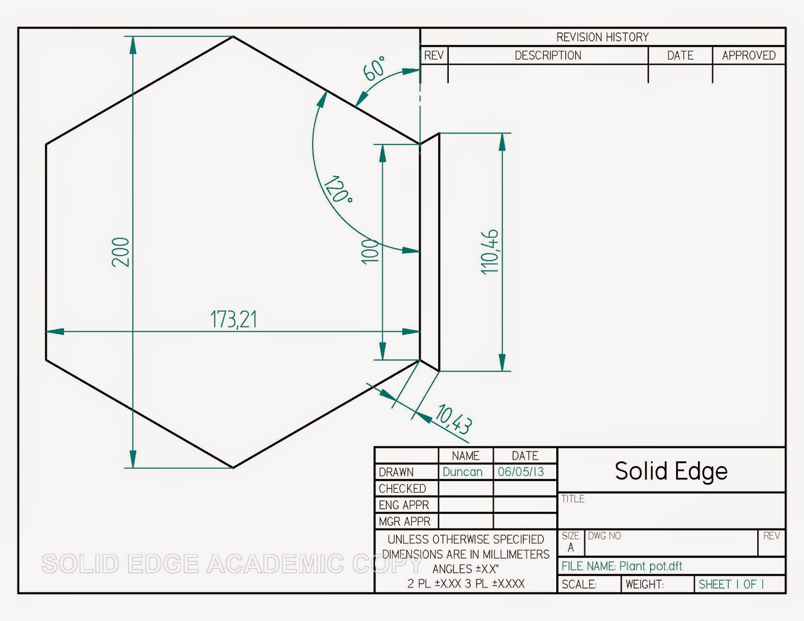 Dream-Design-Build: Hexagon Plant Pots
