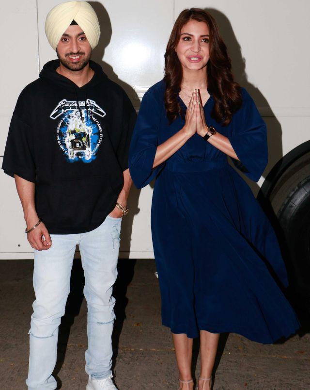 Hindi Actress Anushka Sharma Unseen Stills In Blue Dress 2018