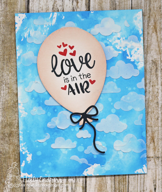 Love is in the Air Card by Holly Endress | Balloon Shaker Die and Uplifting Wishes Stamp Set by Newton's Nook Designs #newtonsnook #handmade