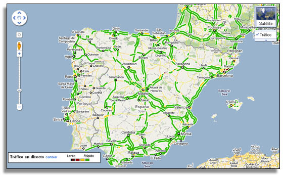 LLEGA A ESPANA GOOGLE MAPS TRAFICO