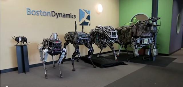 perros roboticos de diferentes tamaños