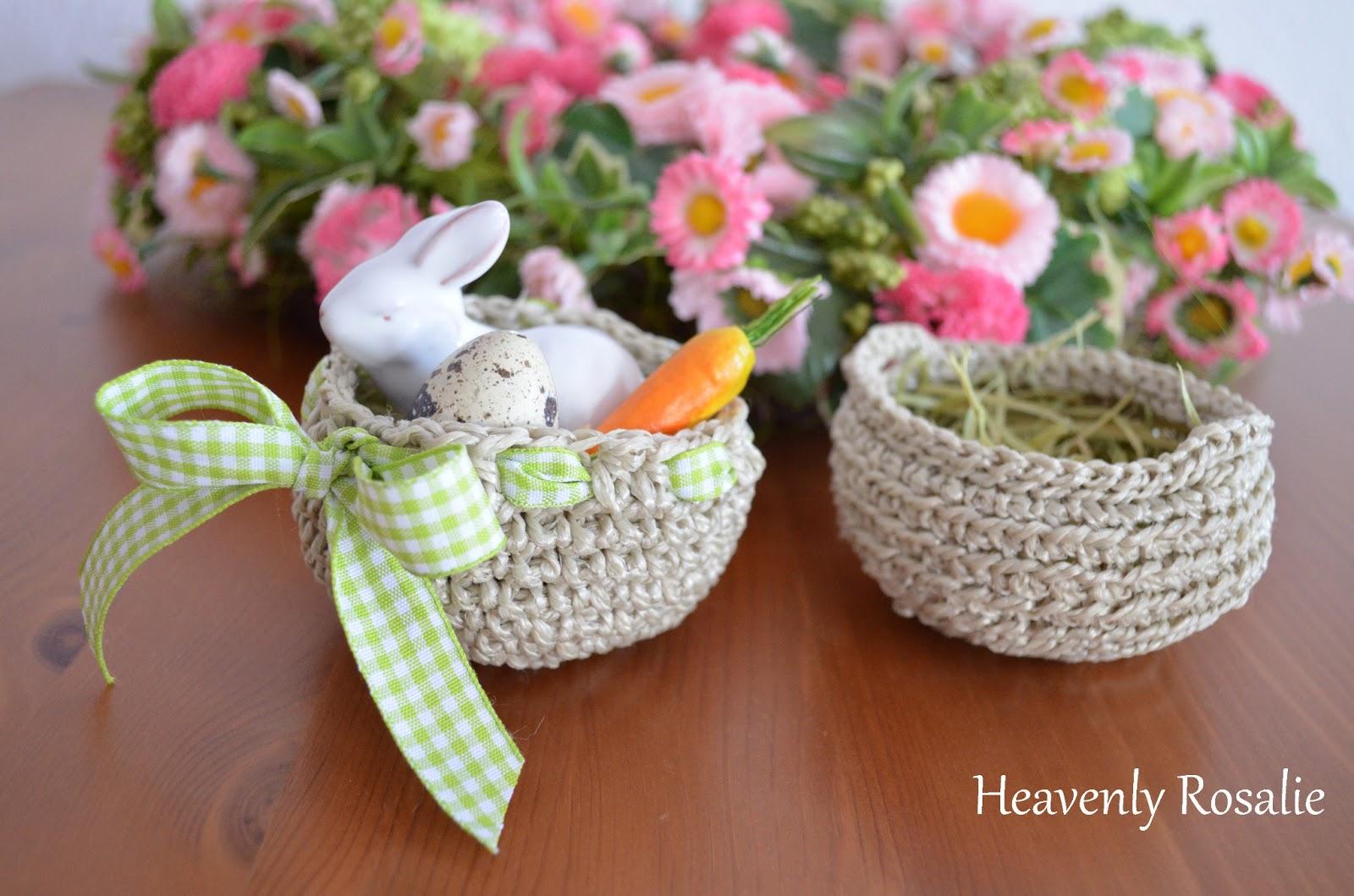 Heavenly Rosalie Gehäkelte Osterkörbchen