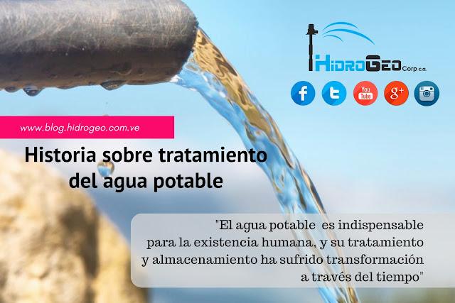 Historia sobre el  tratamiento del agua potable