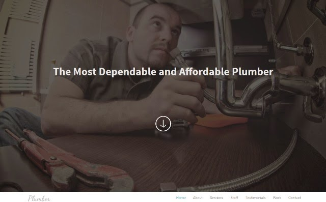 Plumber – Bootstrap Responsive Landing Page Template
