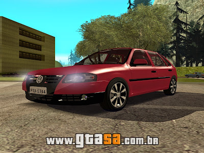 Vw Gol Power G4 2004 com Roda G6 para GTA San Andreas