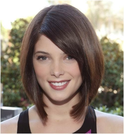 Graduated Back to Front Ascending Symmetrical Bob Look}