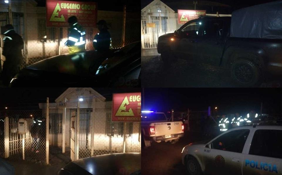 Operativo policial por explosivos en empresa