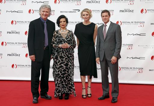 Princess Charlene of Monaco attends the opening ceremony of the 55th Monte-Carlo Television Festival