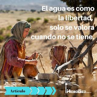 El agua es como la libertad