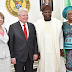 Photos: Lagos State Govenor Received Germany President In Ikeja