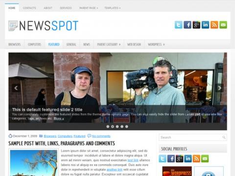 Free NewsSpot - Powerful Features Utilizing the Latest WordPress Theme