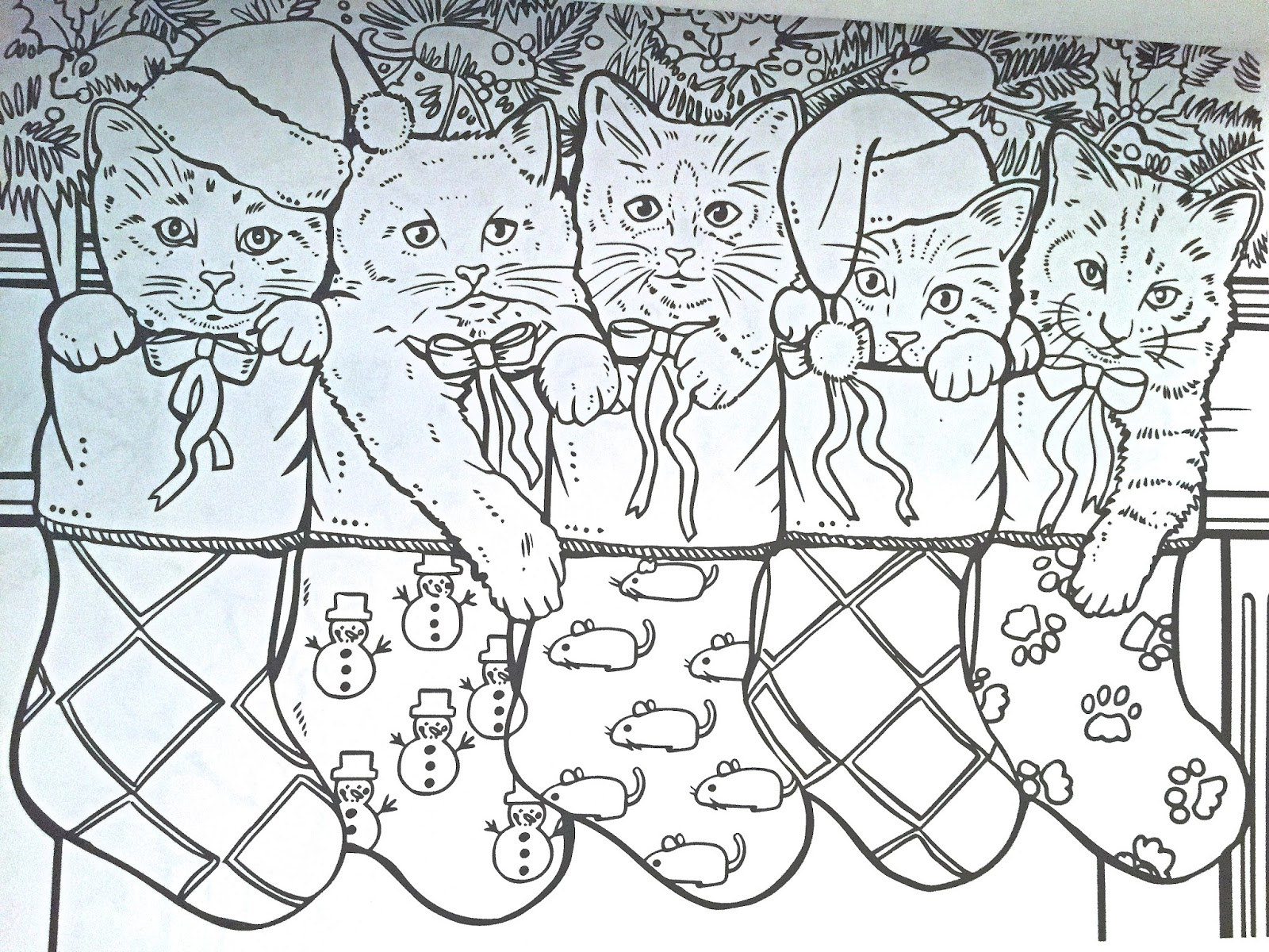 with this heartwarming coloring book featuring happy pets in festive settings feel the stress of the holidays vanish as you focus your your mind on the