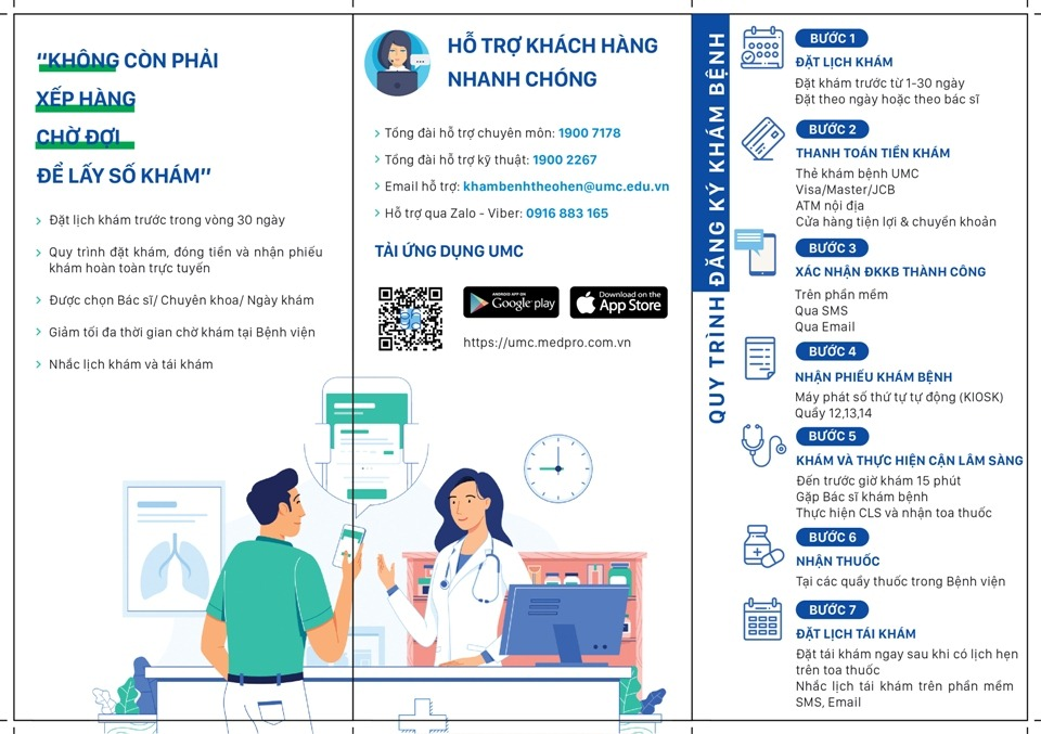 Hướng dẫn đặt lịch khám bệnh online ở bệnh viện Đại học Y Dược thành phố Hồ Chí Minh