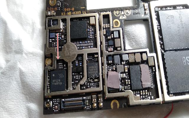 Kode dan Letak Pemasangan IC RF/Sinyal Lenovo Vibe K4 Note A7010a48