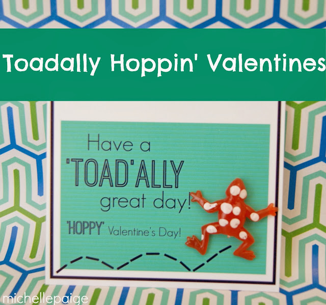 Frog printable valentines at michellepaigeblogs.com