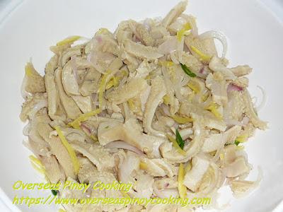 Kinilaw na Liblibro (Oxtripe Salad) Recipe
