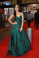Raashi Khanna in Dark Green Sleeveless Strapless Deep neck Gown at 64th Jio Filmfare Awards South ~  Exclusive 123.JPG