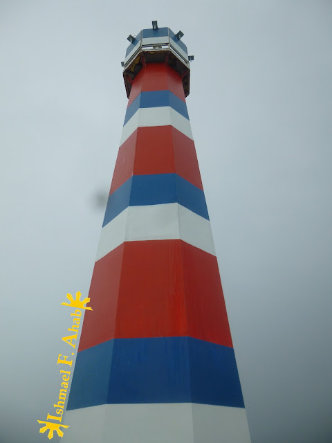The colorful Porter Lighthouse in Lilo-an, Cebu
