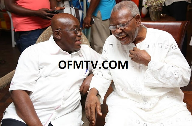 Mr J.H. Mensah and President Akufo-Addo after the NPP won Election 2016.