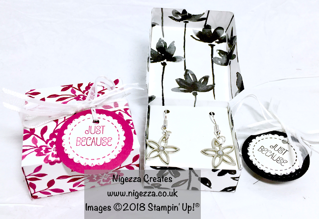 Stampin' Up!® Embellishment Earrings and gift box