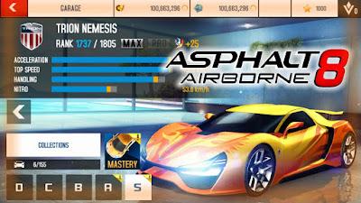 Hack Asphalt 8 : Airbome full tiền, xe, mua sắm free