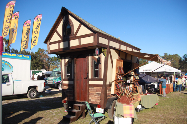 tiny house expo. He Brings The Fairy Tail Micro Home With Him And It Is Too Damn Beautiful! Such Tiny Tudor On Wheels, Perfection. House Expo