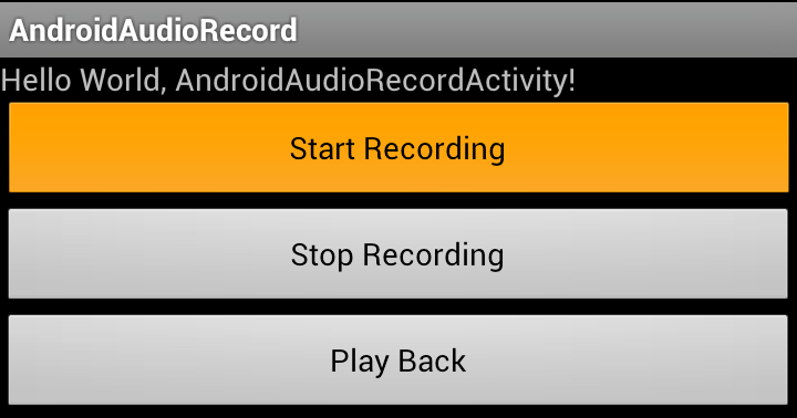 Android-er: AudioRecord and AudioTrack
