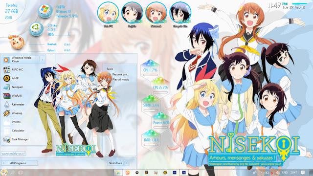 Windows 10 Ver. 1703 Theme Nisekoi by Enji Riz