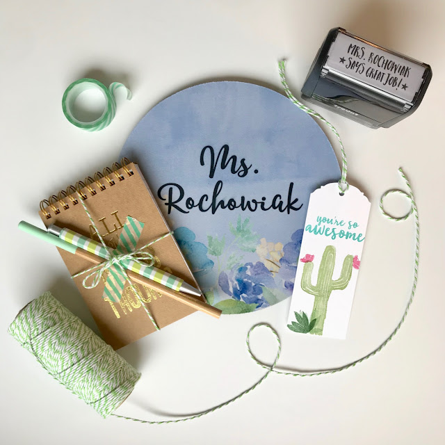 Cactus themed Teacher Gift Idea - Teacher Appreciation - leroylime.com