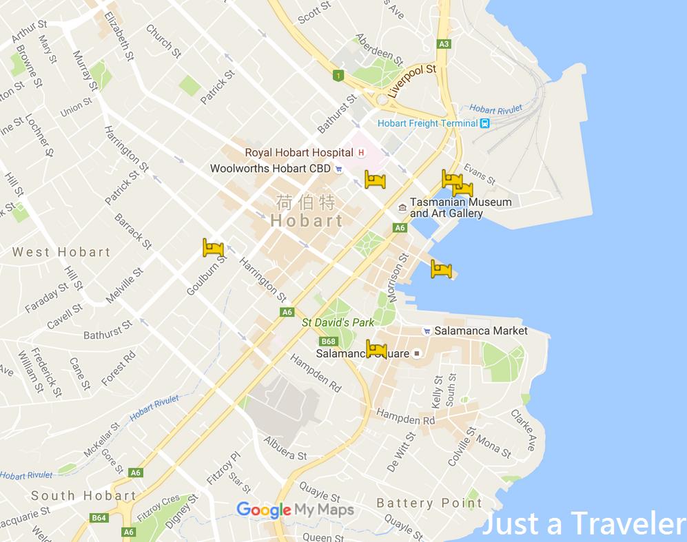 塔斯馬尼亞-住宿-推薦-旅館-飯店-酒店-民宿-公寓-地圖-Map-澳洲-Tasmania-Hotel-Apartment-Accommodation-Australia