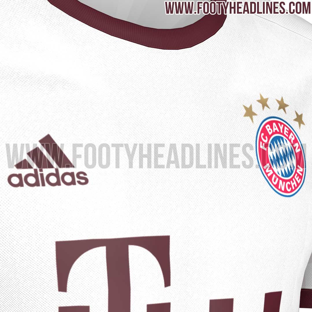 9568a2cf11 A terceira camisa do Bayern de Munique para temporada 2016 2017 será branca  com detalhes em prata e vermelho. O clube ainda não oficializou o modelo