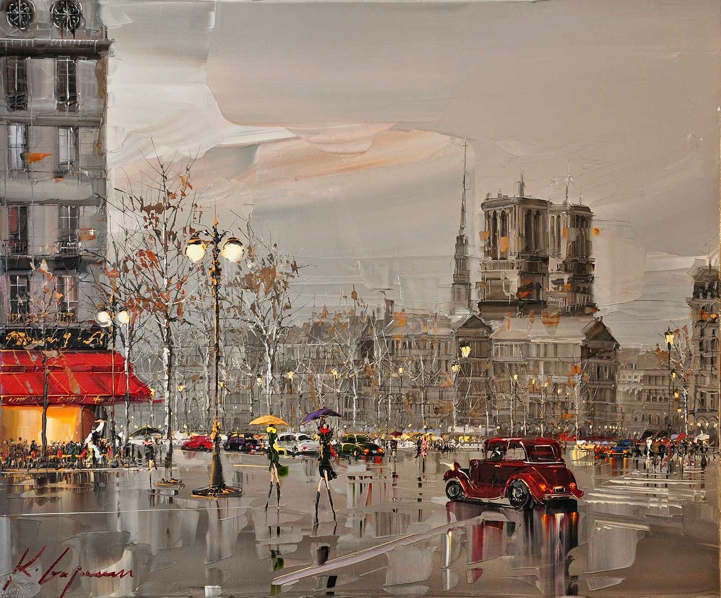 03 París-Kal-Gajoum-Paintings-of-Dream-Like Cities-of-the-World-www-designstack-co