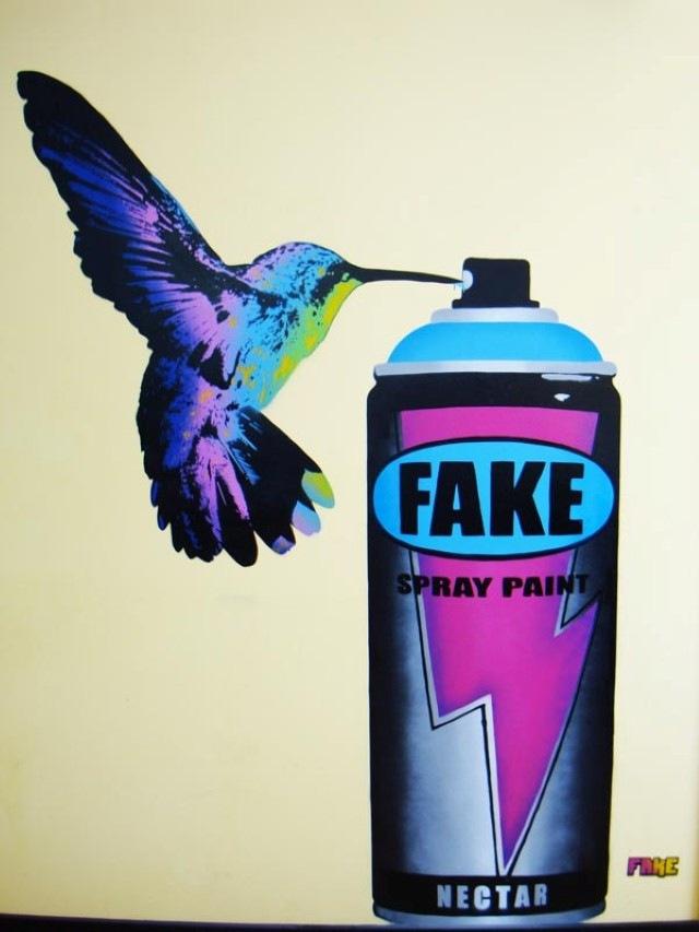 Власть трафаретов. FAKE (стрит-арт)