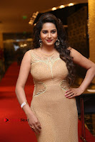 Actress Himaja Stills in Golden Spicy Long Dress at SIIMA Short Film Awards 2017 .COM 0248.JPG