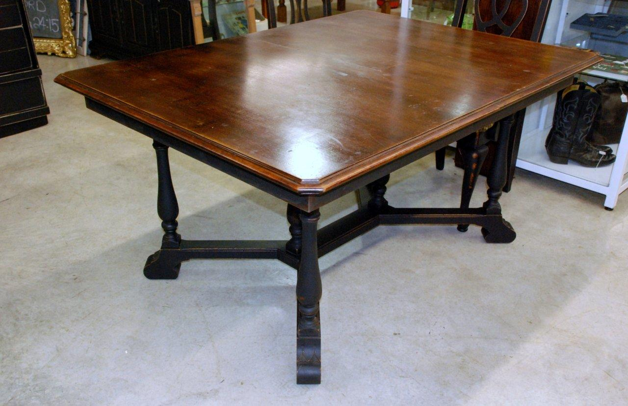 Waterhouse Market Antique Black Dining Table Sold