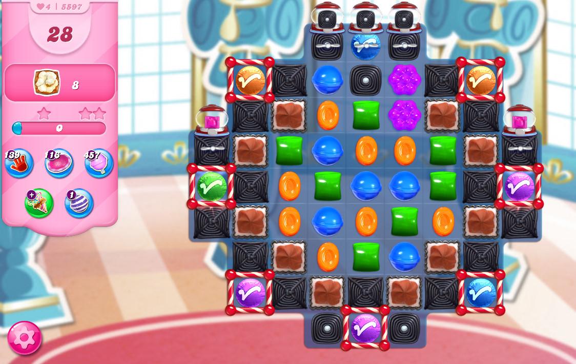 Candy Crush Saga level 5597
