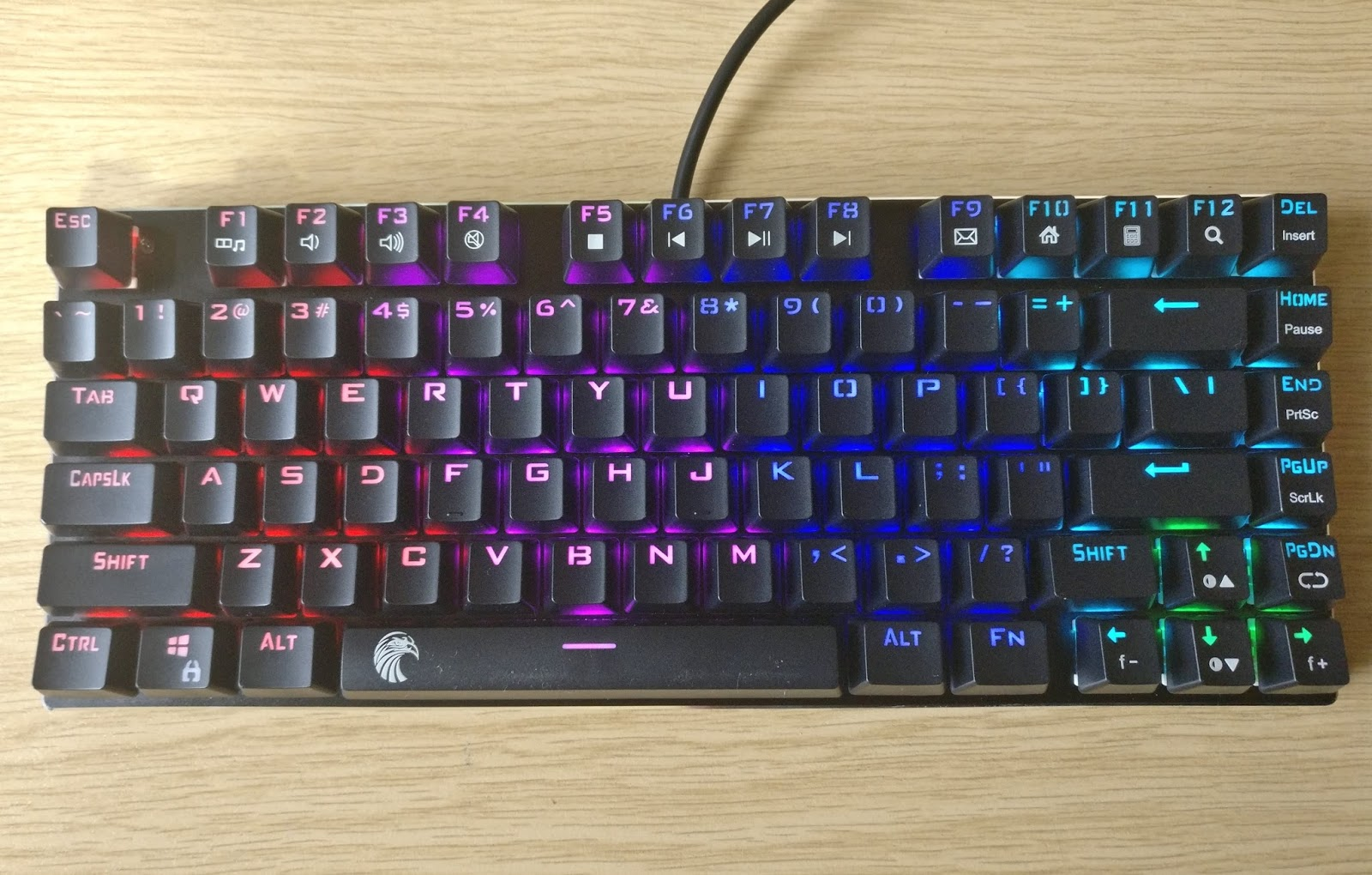 efc4c44c2dd This is a review for: Tenkeyless Mechanical Keyboard Gaming Small Compact  81 Keys RGB LED Backlit Aluminum Ergonomic Design Tactile and Clicky for  Gamer ...