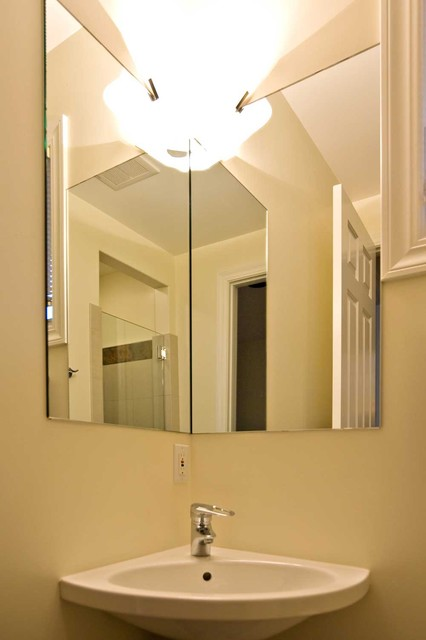 corner sink design for bathroom double wall mirror with light