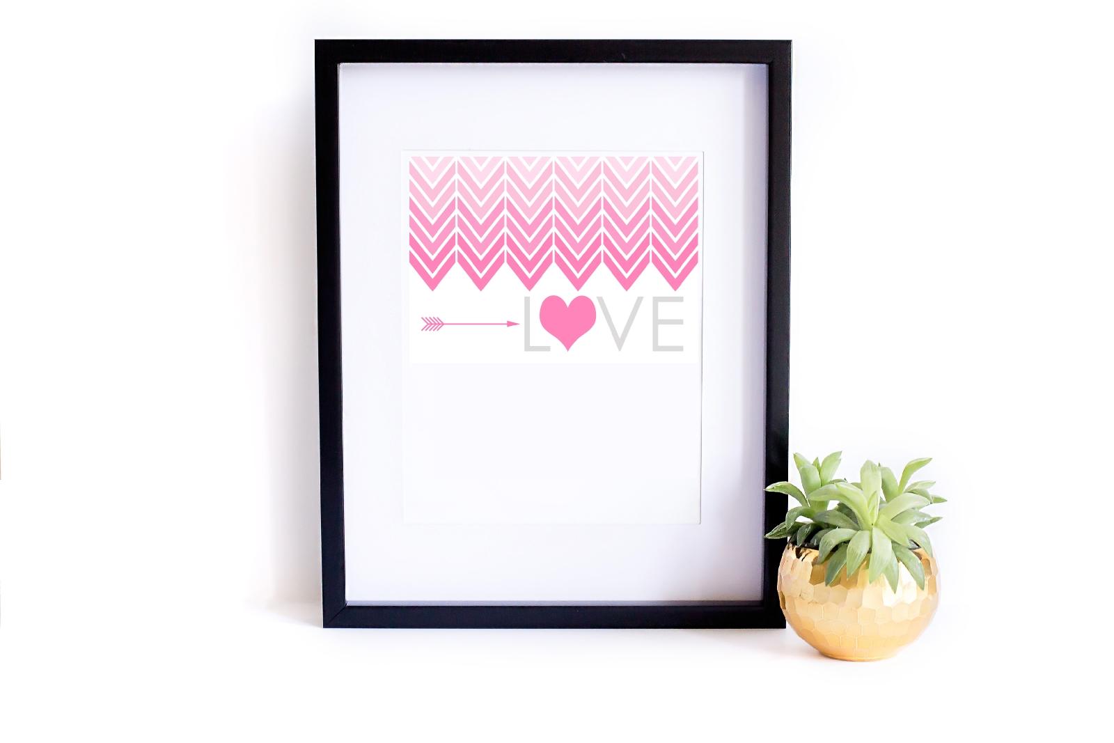 miłosny plakat do druku za darmo