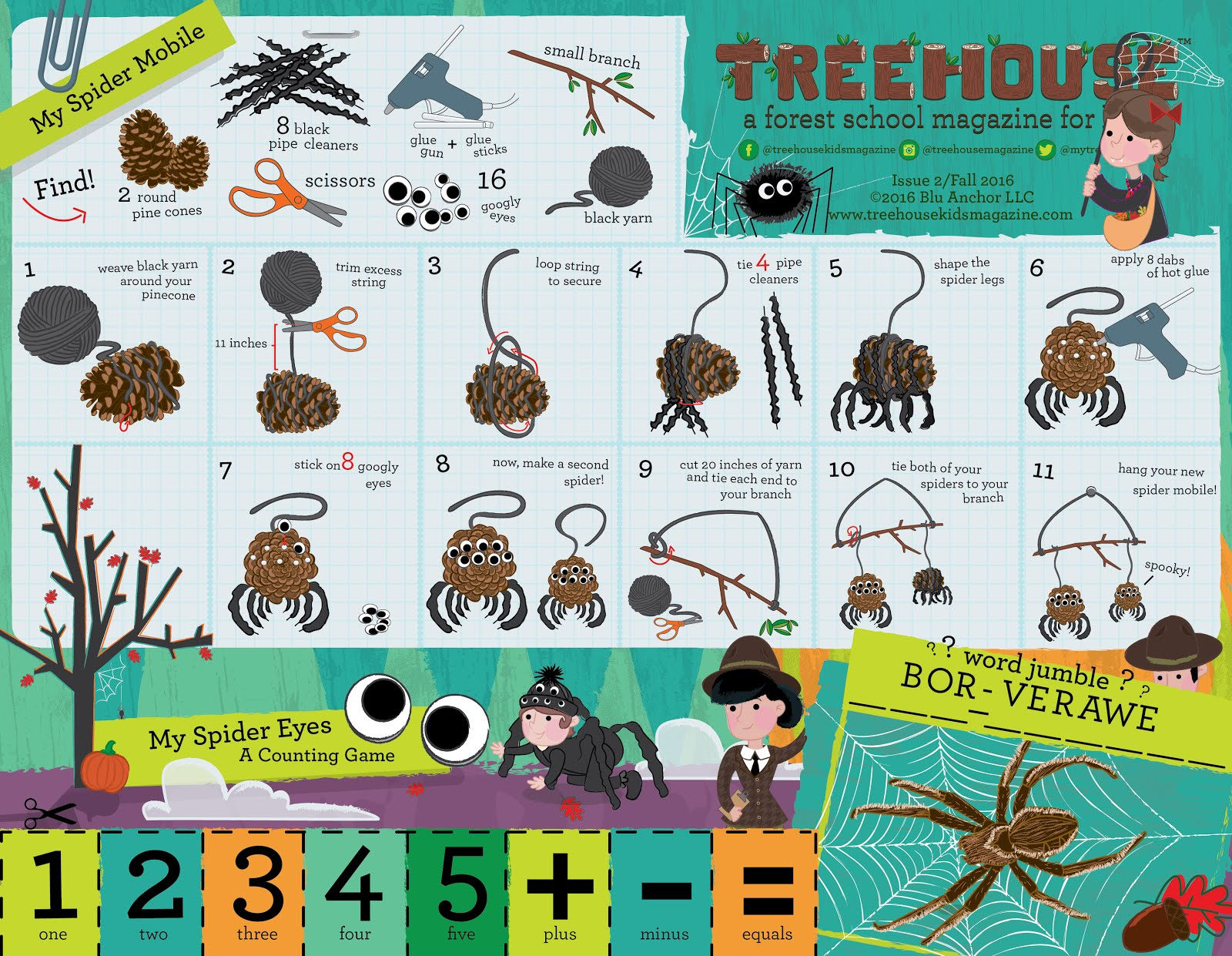 Treehouse Magazine My Nature Wand And My Spider Mobile