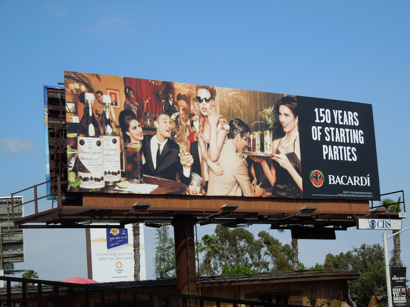 150 years parties Bacardi billboard