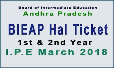BIEAP Inter Hall Ticket 2018 - bieap.cgg.gov.in halltickets