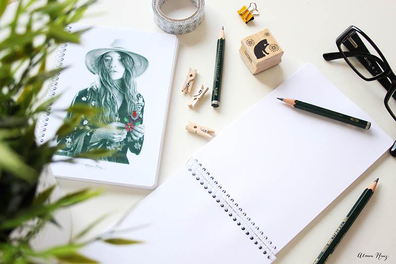 Libretas pequeñas para escribir y dibujar