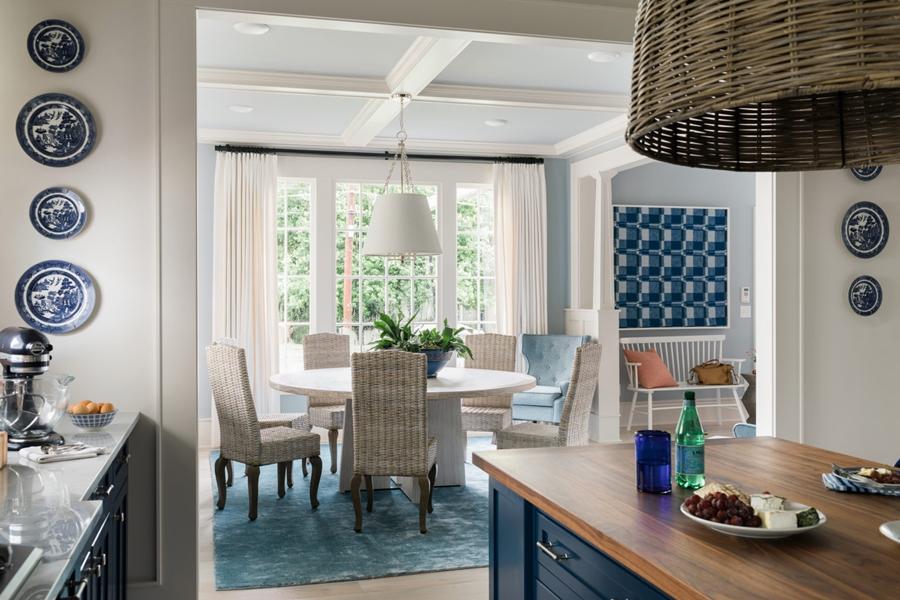 Niebieskie szaleństwo - metamorfoza całego domu, wystrój wnętrz, wnętrza, urządzanie mieszkania, dom, home decor, dekoracje, aranżacje, niebieski, blue, before and after, kuchnia, kitchen, wyspa kuchenna, jadalnia