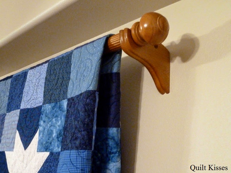The Hangers Just Mount Into Sheet Rock So It Is Not Super Secure However I Can Still Rotate Quilts Hang Here